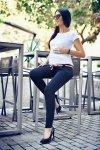 Komfortowe spodnie ciążowe Monika 9081 granat
