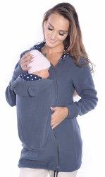 MijaCulture - polar do noszenia dziecka 3073A szary