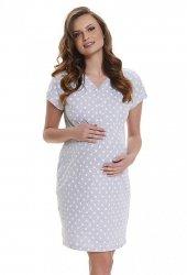 Elegancka koszula 2 w 1 ciążowa i do karmienia 5073/9453 melanż