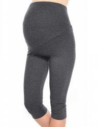 Komfortowe legginsy ciążowe 3/4 grafitowe