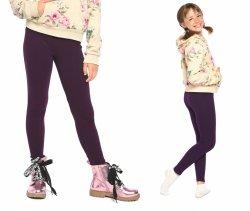 Legginsy dziewczęce zimowe getry dla dzieci Amelia ciemny fiolet