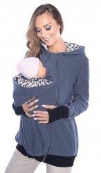 MijaCulture - 3 w1 polar  ciążowy i do noszenia dziecka 4018A/M22 ciemny szary
