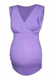 MijaCulture - elegancki top ciążowy i do karmienia 4013/M27 fiolet