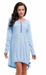 Wygodna koszula 2 w 1 ciążowa i do karmienia długi rękaw 5070/9104,1055 niebieski