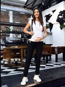 MijaCulture Wygodne spodnie dresowe ciążowe Coco M003 czarny
