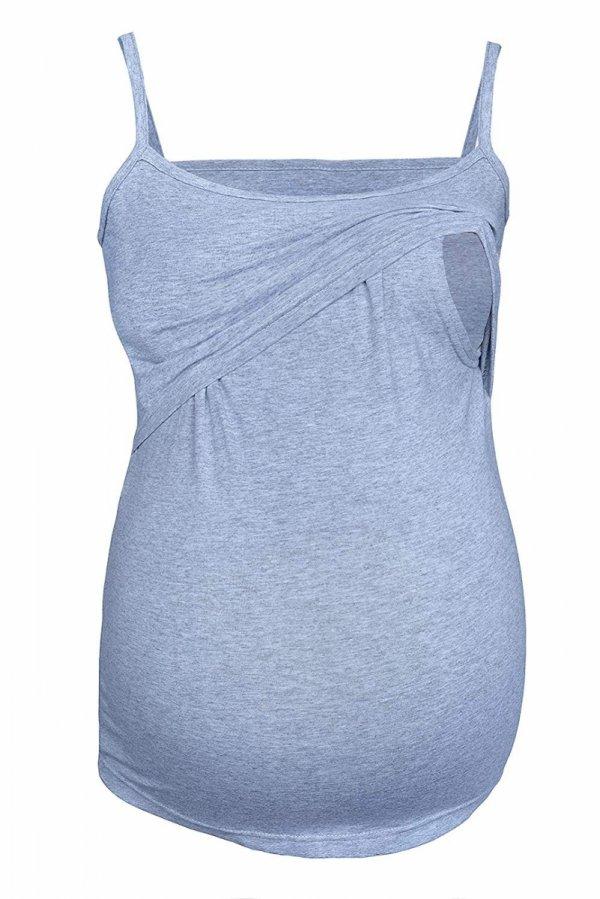 top na ramiączkach 2 w 1 ciążowy i do karmienia 4029/M46 melanż 1