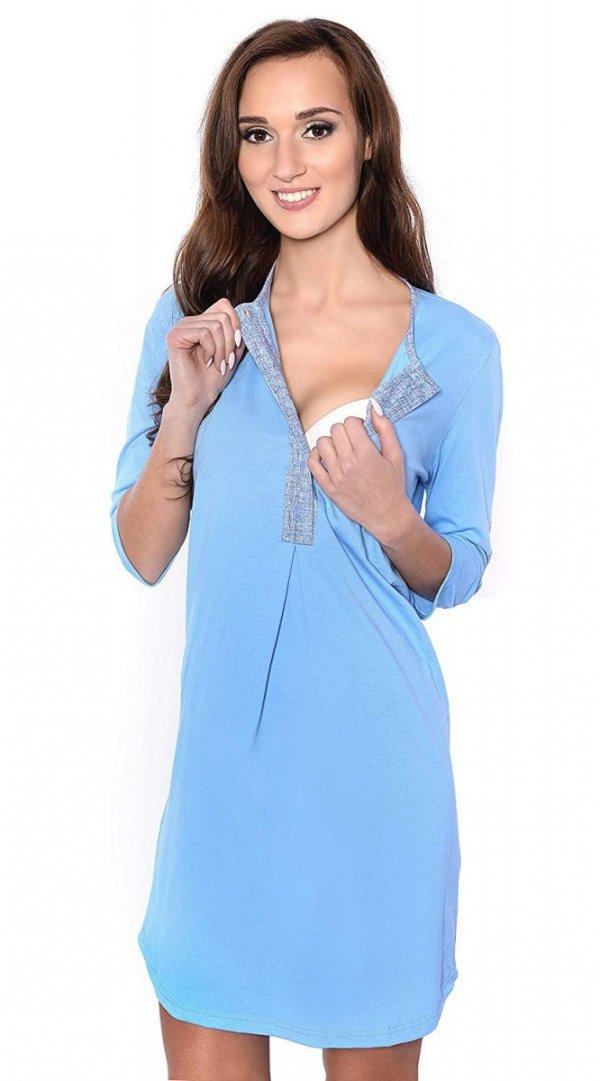 2 w 1 koszula nocna i do karmienia 4016/M31 niebieski 1
