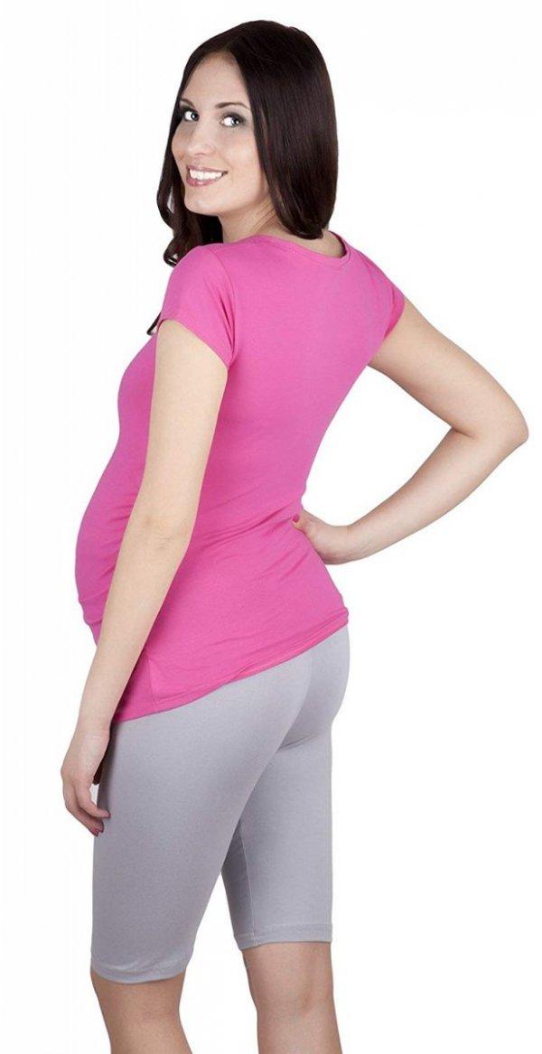 MijaCulture - wygodne krótkie legginsy ciążowe 4008/M25 szary 3
