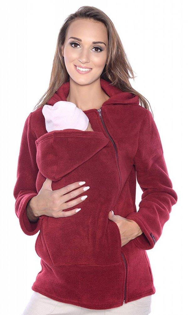 Ciepła bluza polarowa do noszenia dziecka 3072A bordo 1