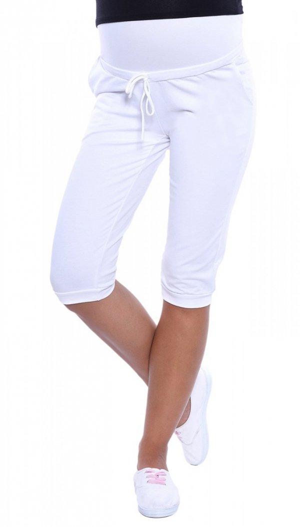 MijaCulture - spodenki ciążowe 4090/3815 białe