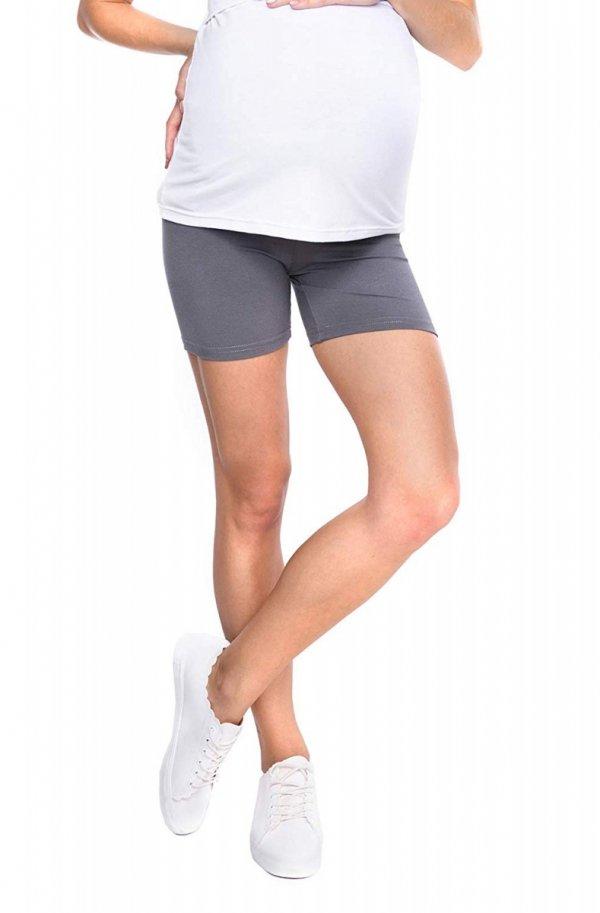Wygodne krótkie legginsy ciążowe Mama Mia szary 2