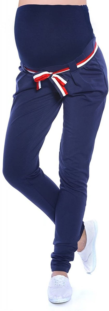 Komfortowe spodnie ciążowe Monika 9081 granat1