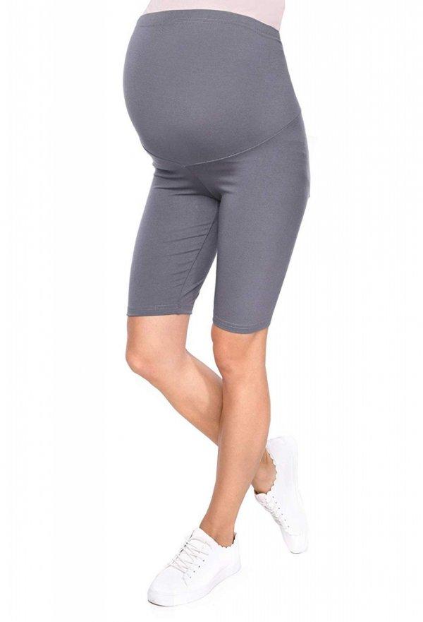 Wygodne legginsy ciążowe Mama szary 1