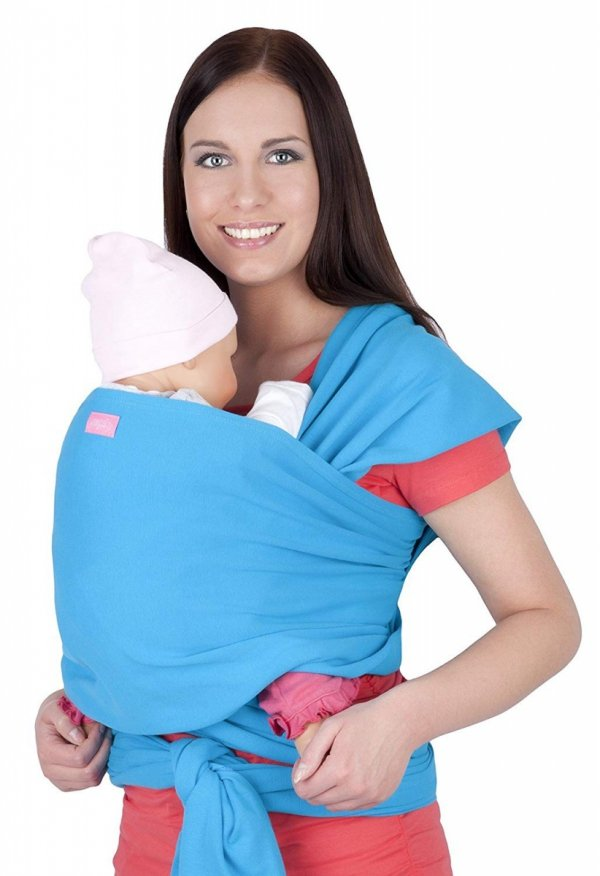 chusta do noszenia dzieci 4011/M28 turkus 1