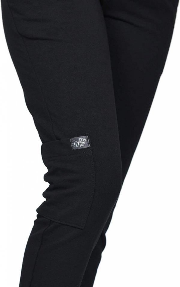 MijaCulture Wygodne spodnie dresowe ciążowe ZOE M002 czarny5