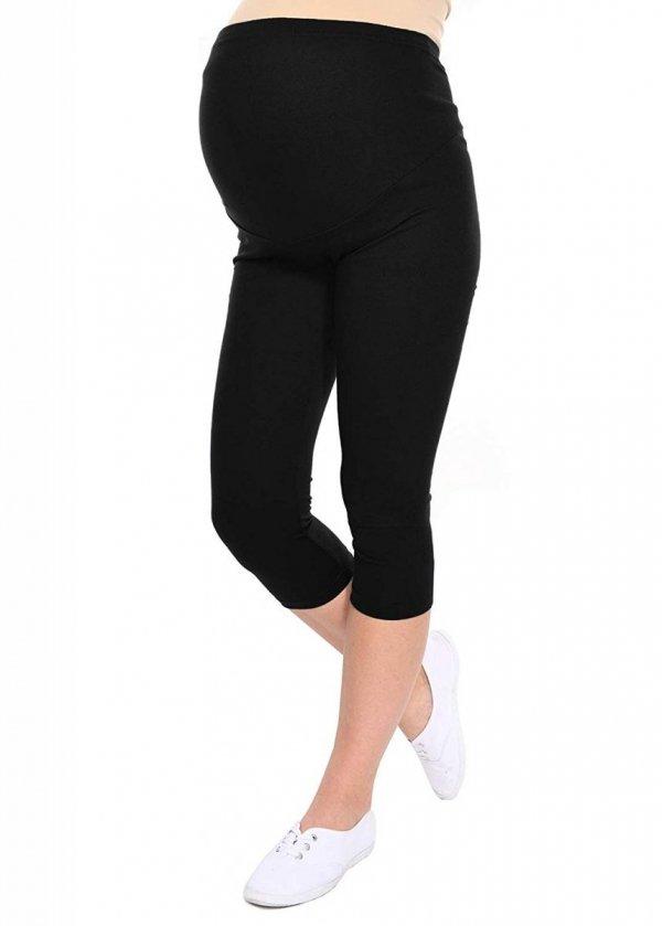 Komfortowe legginsy ciążowe 3/4 czarne 1