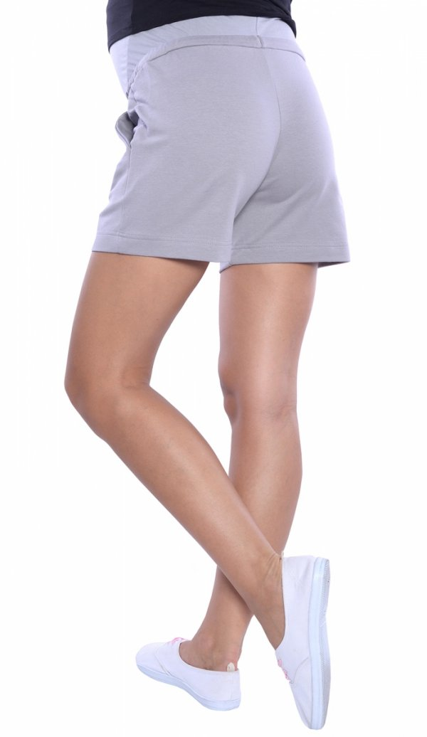 MijaCulture - spodenki ciążowe 4091/3808 szary