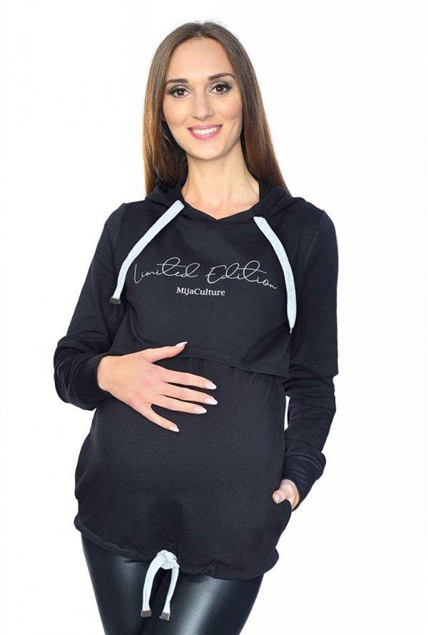 MijaCulture - 3 w 1 bluza ciążowa i do karmienia M68 4110 czarny Limited Edition front 1