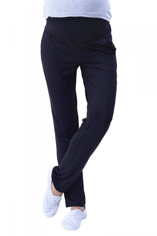 MijaCulture - spodnie viskozowe 4092/ M53 czarny 1