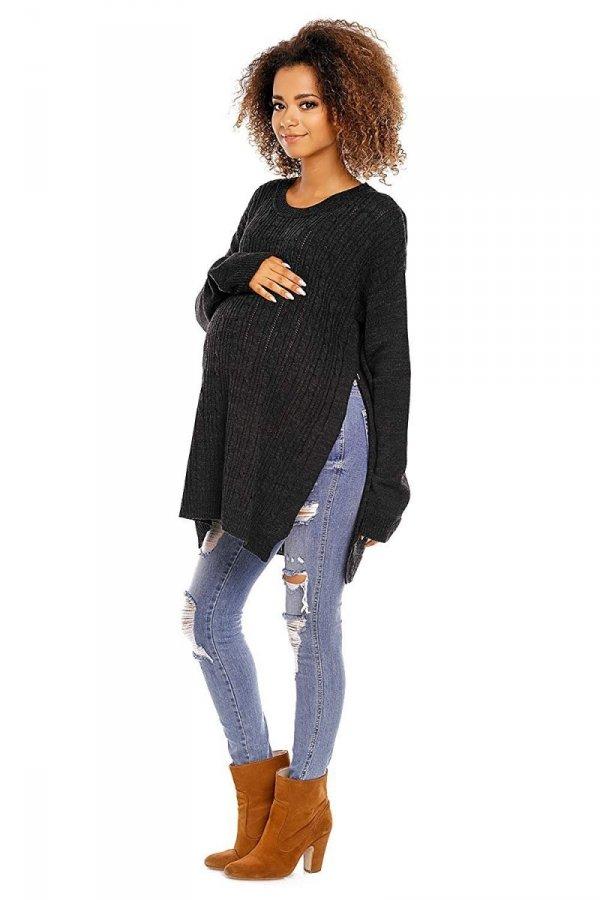 Funkcjonalny sweter 3 w 1 ciążowy i do karmienia 2013 grafit 3