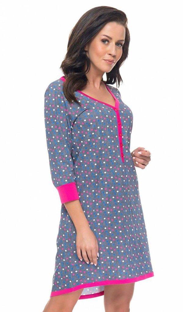 koszula nocna ciążowa, koszula nocna dla kobiet w ciąży, koszula nocna dla karmiącej, koszula nocna dla karmiących kobiet, koszula nocna ciążowa z krótkim rękawem, koszula nocna dla karmiącej z krótkim rękawem