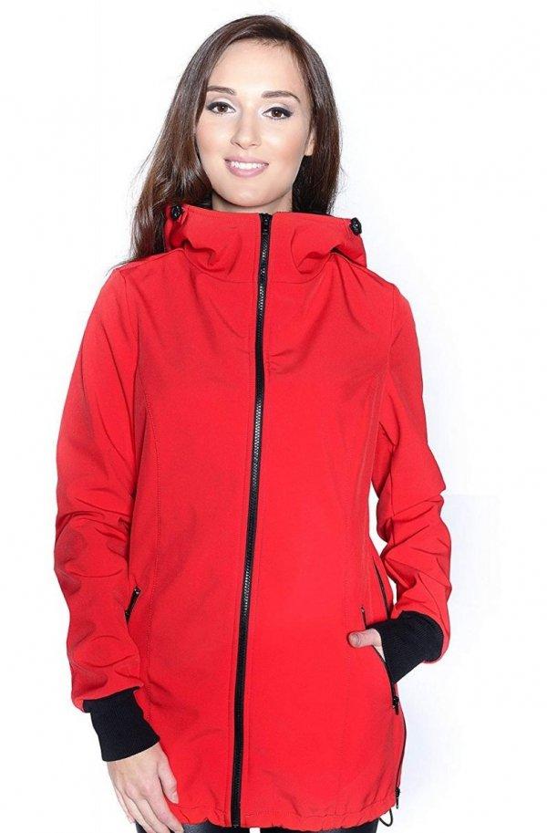 kurtka softshell 3D ciążowa i do noszenia dziecka M52/4068 czerwony 4