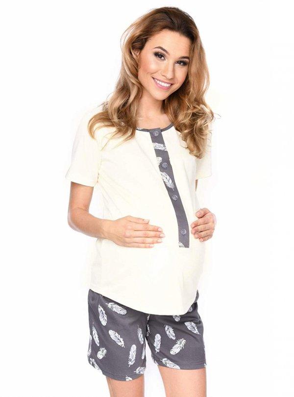 MijaCulture - 3 w 1 piżama ciążowa i do karmienia 4030/M47 kremowy 2
