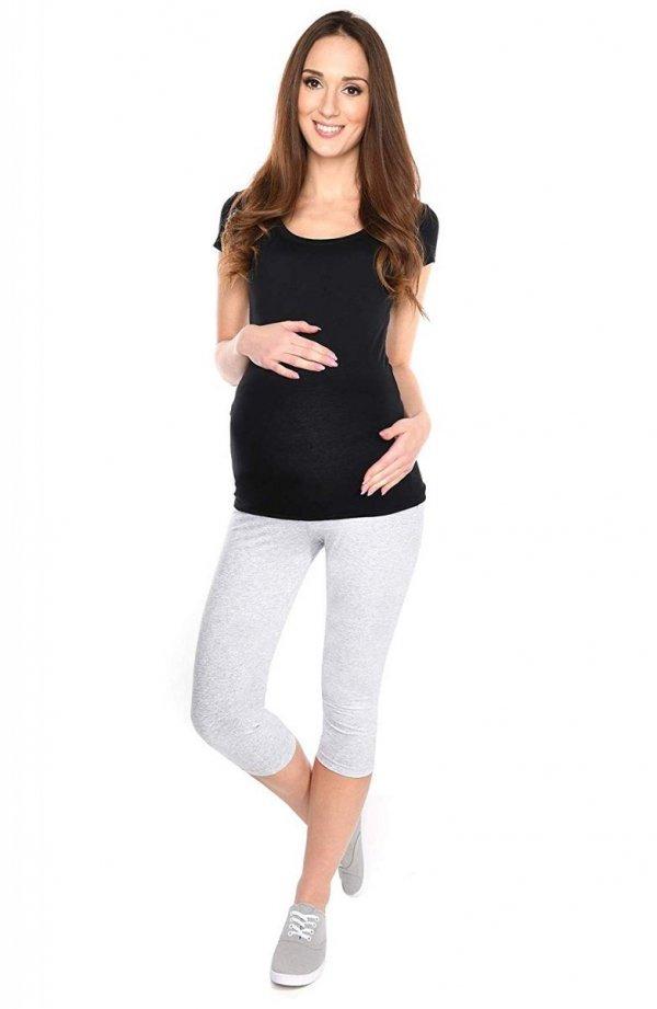 Komfortowe legginsy ciążowe 3/4 czarne 2