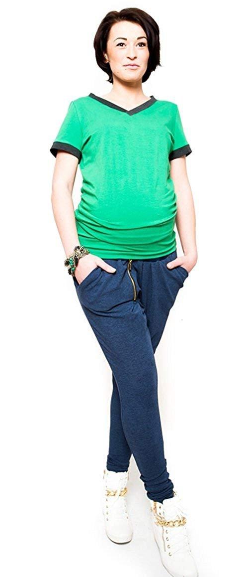 """Wygodne spodnie ciążowe dresowe na co dzień """"Tonya"""" 9052 niebieski 2"""