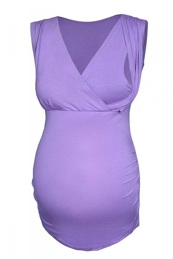 elegancki top ciążowy i do karmienia 4013/M27 fiolet 1