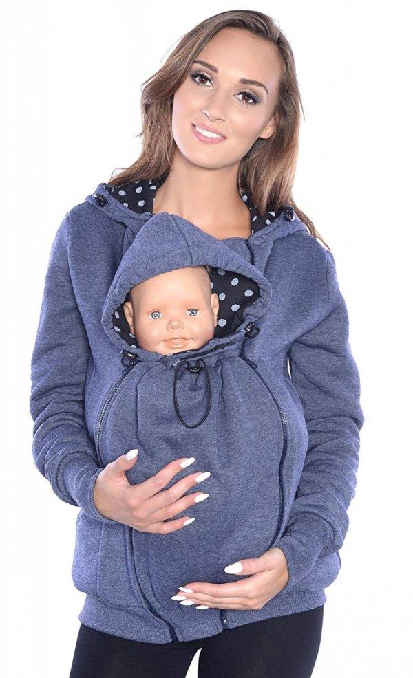 3 w1 bluza 3D ciążowa i do noszenia dziecka 4046/M50 jeans 5