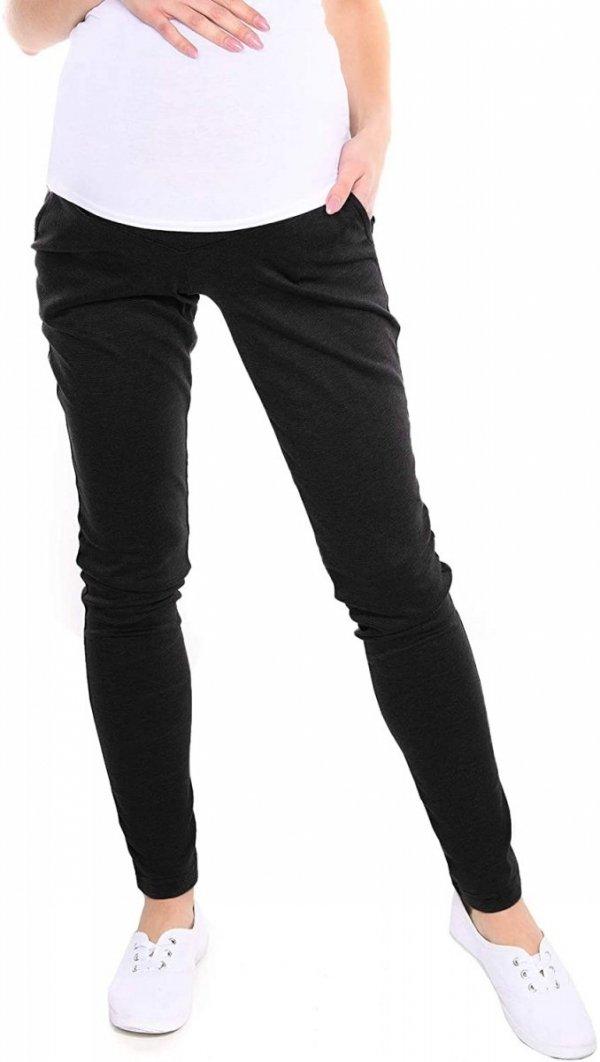 Wygodne spodnie ciążowe Kaja 9043 czarny1