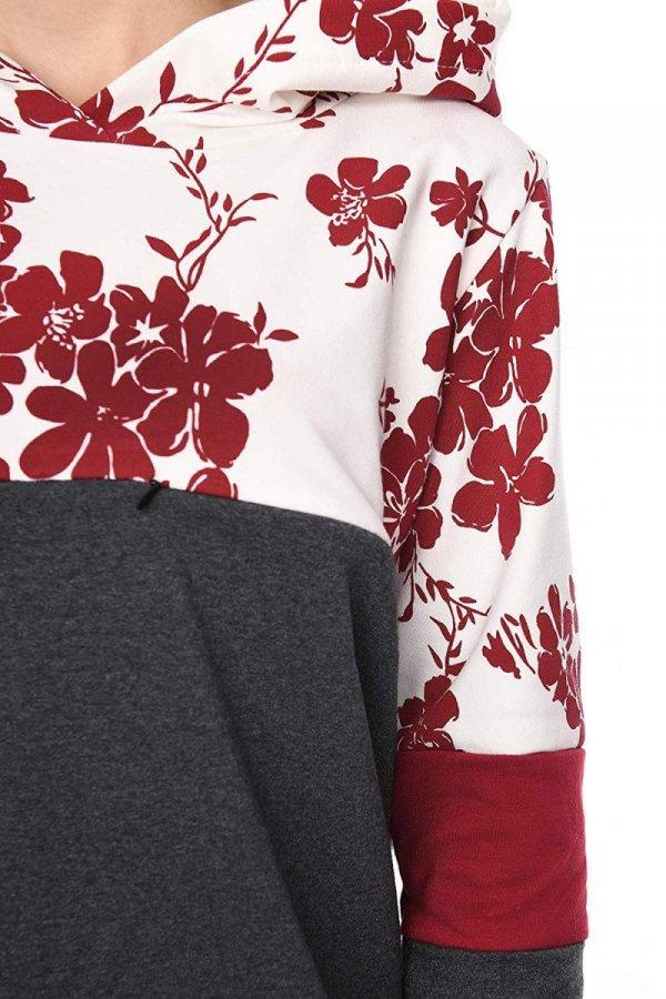 """MijaCulture - 3 w 1 bluza ciążowa i do karmienia """"Jane"""" 7144 grafit/bordo 3"""
