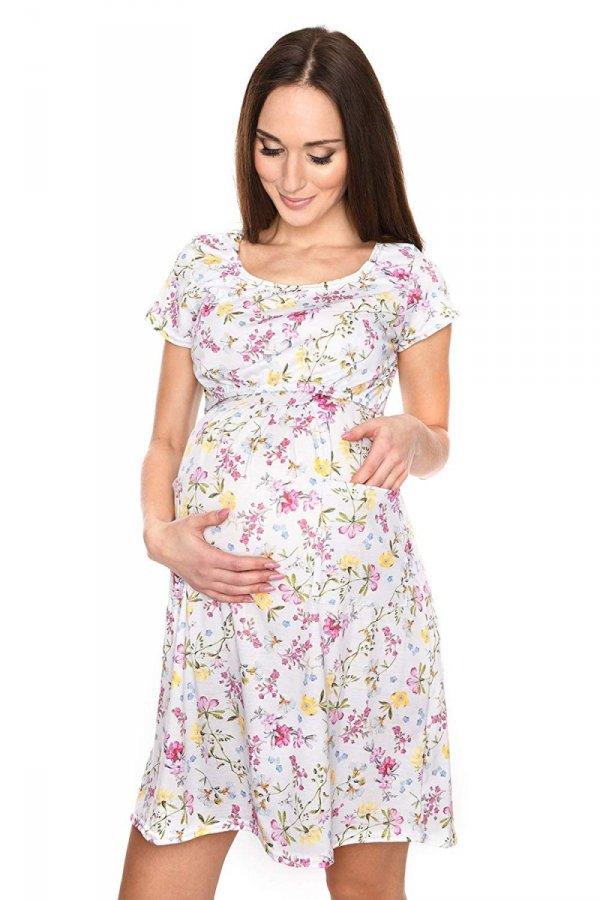 """MijaCulture - zjawiskowa sukienka 2 w 1 ciążowa i do karmienia """"Lulu"""" kwiaty 1"""