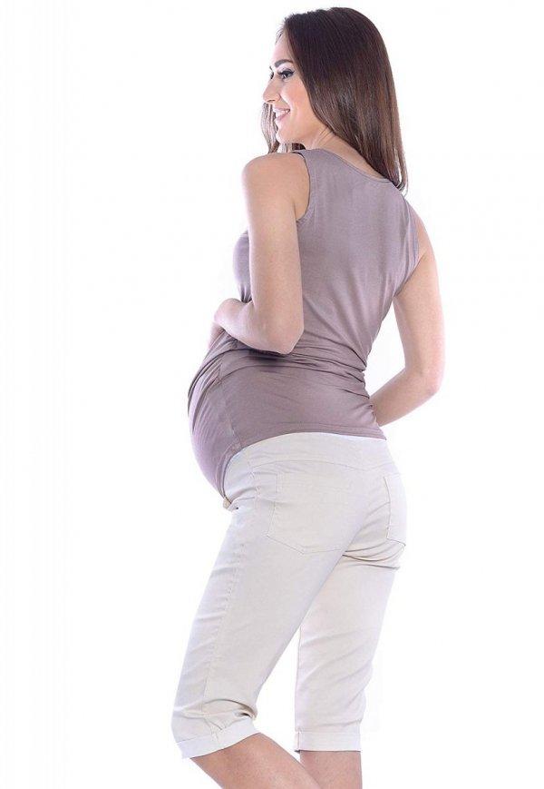 MijaCulture - spodnie rybaczki ciążowe 4015/ M35 beż 3