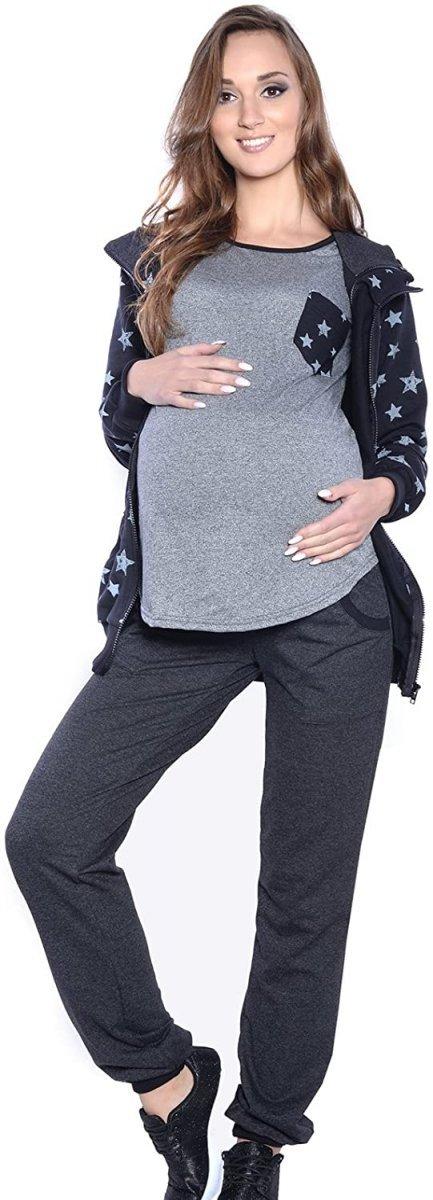 Dres Ciążowy komplet 3 części 4053 czarny/grafit