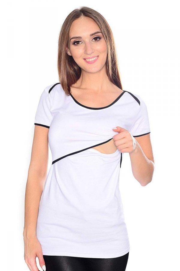 MijaCulture - bluzka 2 w1 ciążowa i do karmienia 1111 biały 1