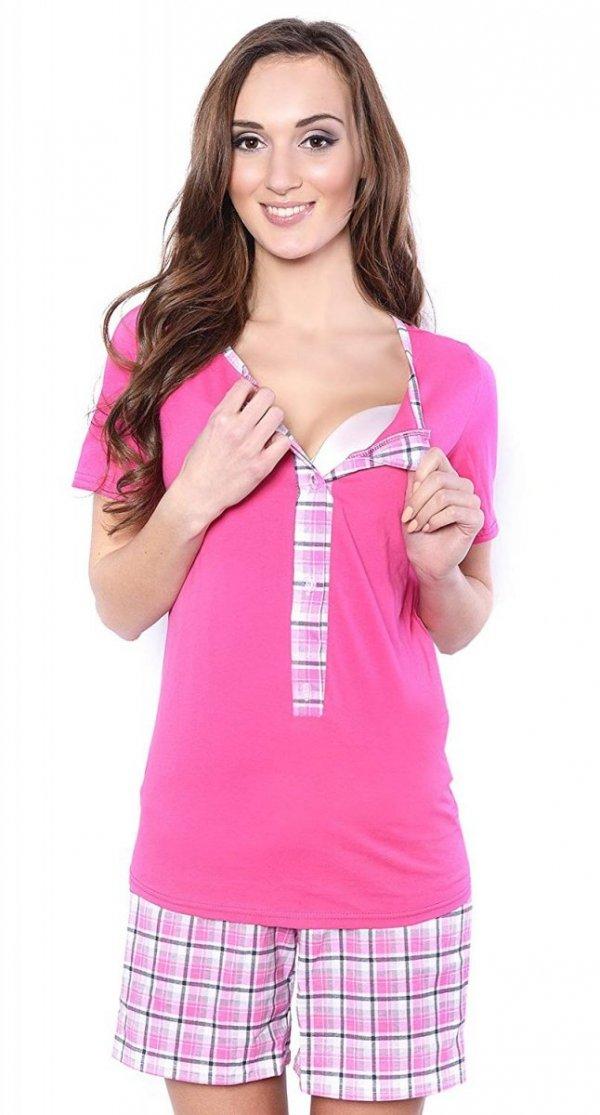 3 w 1 piżama ciążowa i do karmienia 4030/M47 różowy 1