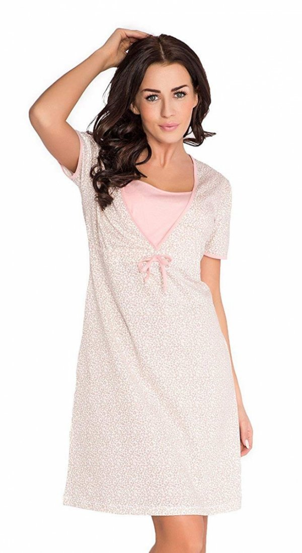 Elegancka koszula 2 w 1 ciążowa i do karmienia 5062/4044 róż