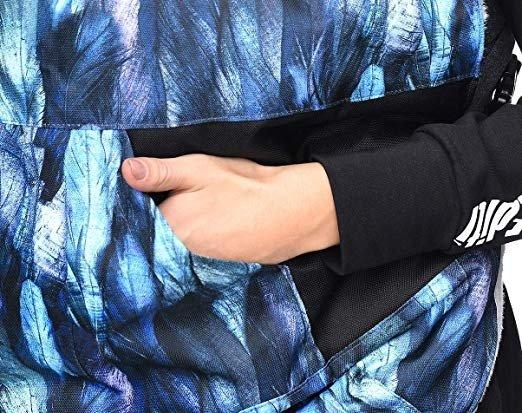 MijaCulture - osłona drukowana z minky 4127 niebieska/pióra 6