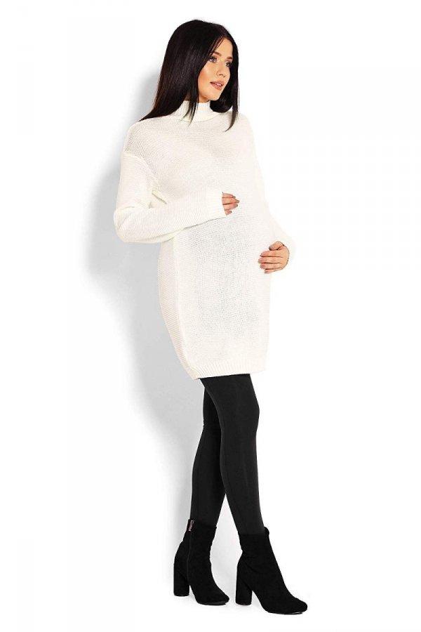 Długi sweter ciążowy Majka 2009 kremowy 3