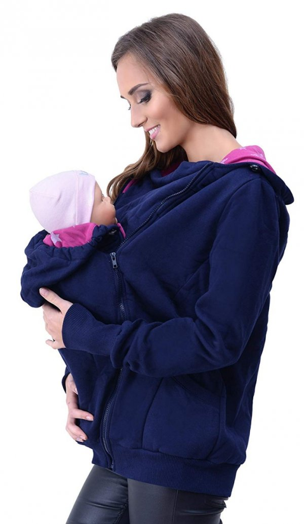 3 w1 bluza 3D ciążowa i do noszenia dziecka 4046/M50 ciemny granat 1