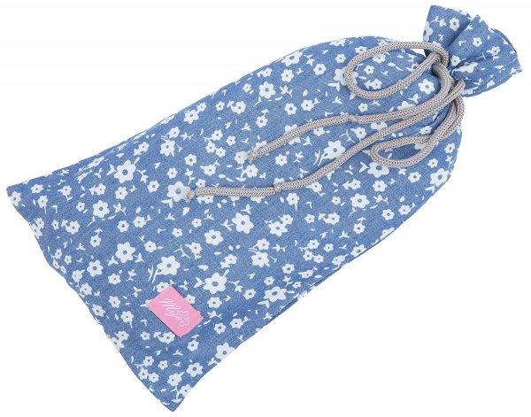 chusta, peleryna do karmienia piersią + etui 4010/M34 niebieski 2 2