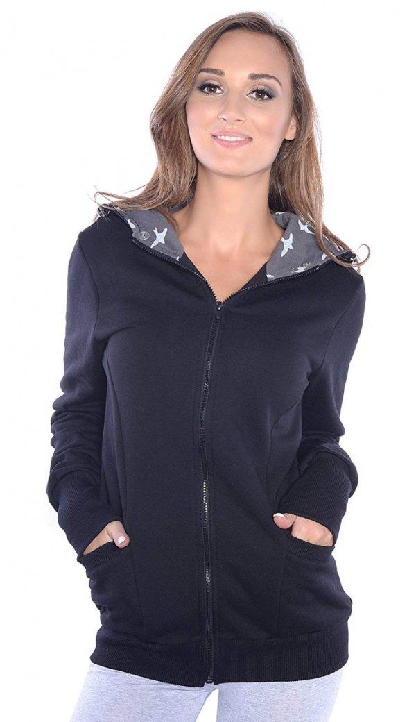 3 w1 bluza 3D ciążowa i do noszenia dziecka 4046/M50 czarny 3