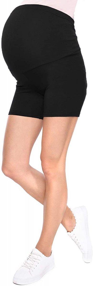 Wygodne krótkie legginsy ciążowe Mama Mia 1053/2 komplet szary/czarny3