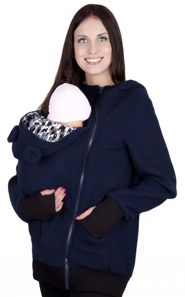 bluza polarowa do noszenia dziecka 4019A/M21 ciemny granat 1