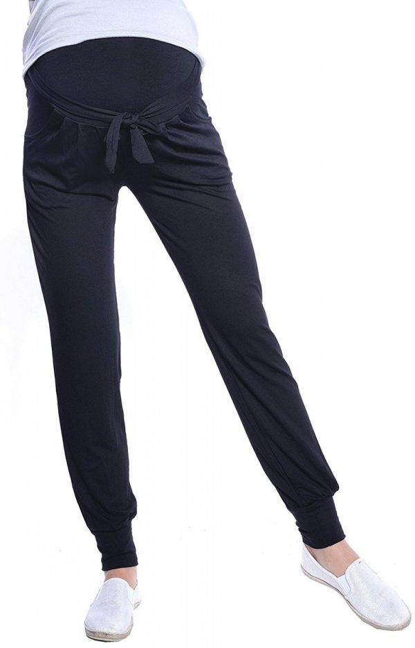 MijaCulture - spodnie alladynki z panelem 4012/ M 33 czarny 1
