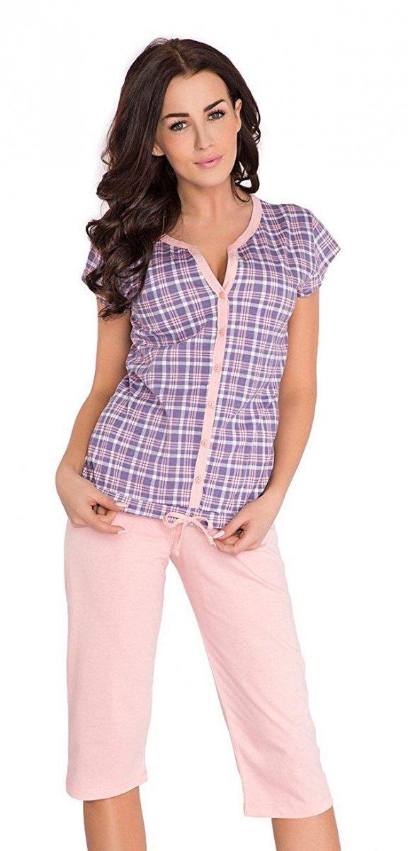 Wygodna piżama 2 w 1 ciążowa i do karmienia 5063 lila