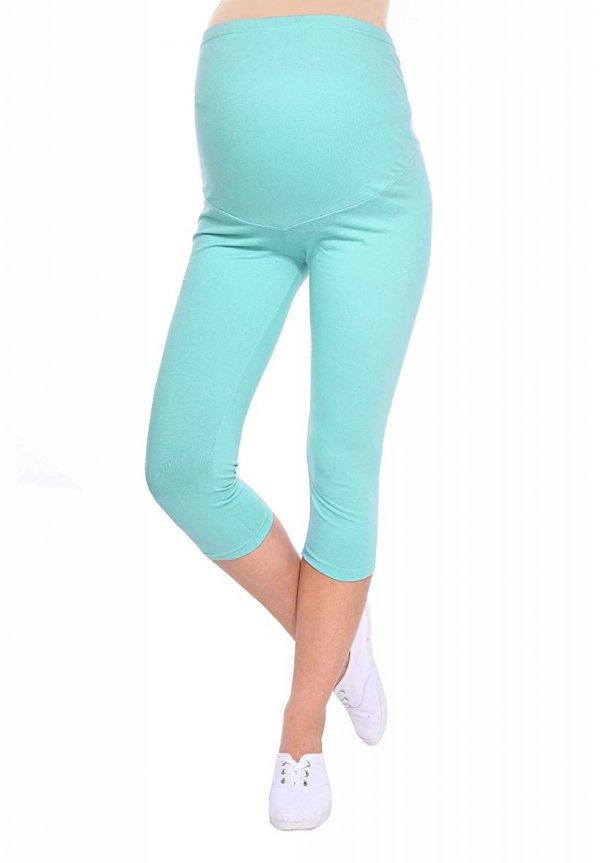 Komfortowe legginsy ciążowe 3/4 miętowe 8