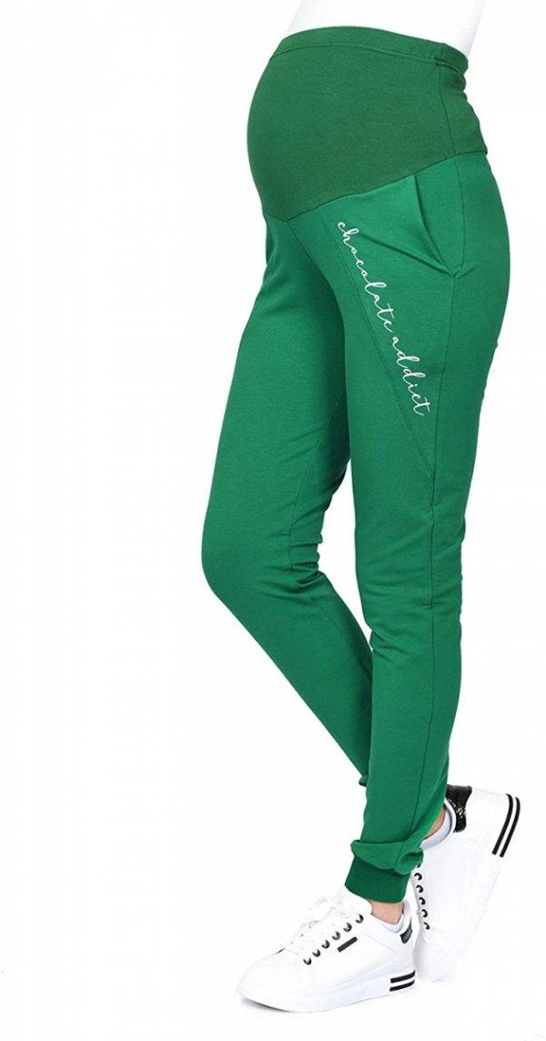 Wygodne ciążowe spodnie dresowe Chocolate Addict 9097 zielony1